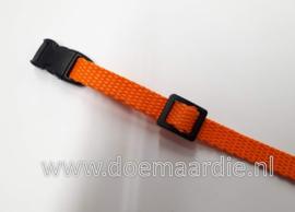 Webbing oranje, 50 meter 10 mm