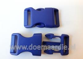 Buckle , klikgesp, Large paars blauw, doorvoer 20 mm.