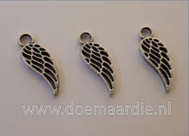 Vleugel, oud zilverkleur, per 10