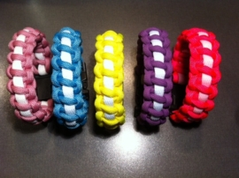 "Paracord bracelets, armbanden ""Glow in the dark"""