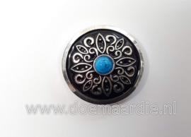 Concho, Keltisch, blauw gemarmerd. 24 mm