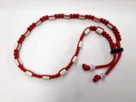 Tekenhalsband rood,  53 cm.