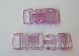 Buckle transparant, mini, klikgesp, paars, doorvoer 11 mm