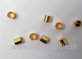 DQ Metalen koord eind. Gold, 5 mm