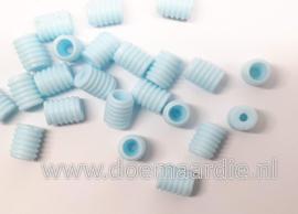 Stoppers elastiek/type 1, licht blauw per 10