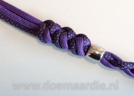 Paracord 550 Diamond Acid Purple/Black, vanaf 27 cent per meter.