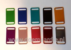 Naam tag in verschillende kleuren.