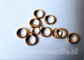 RVS ringetje goud, gat 8 mm.