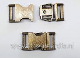 Antiek messing buckle, doorvoer 16 mm