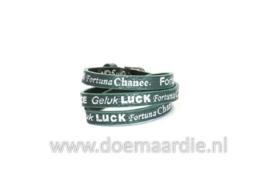Wikkelarmband, geluk, luck,chance. Groen