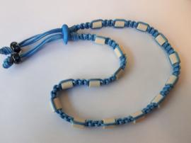 Tekenhalsband 49 cm, baby blauw.