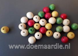 Houten kralen, mix, ong 30 stuks. 13 bij 15 mm