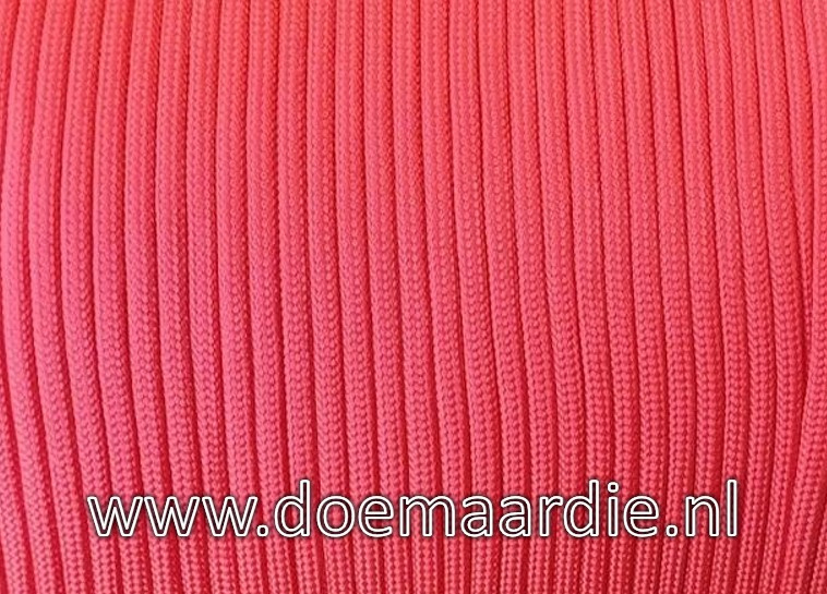Paracord, 225, Salmon Red, vanaf 29 cent