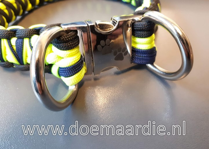 D ringen opzetten naast de buckles.