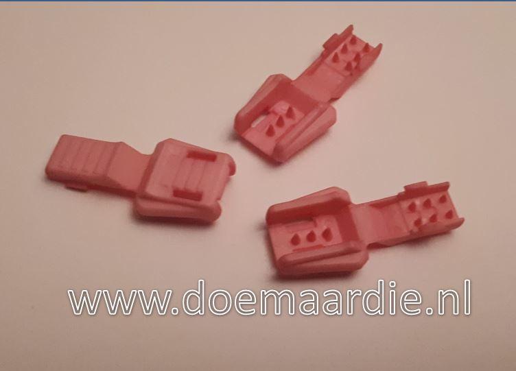 Zipper cord end, roze.