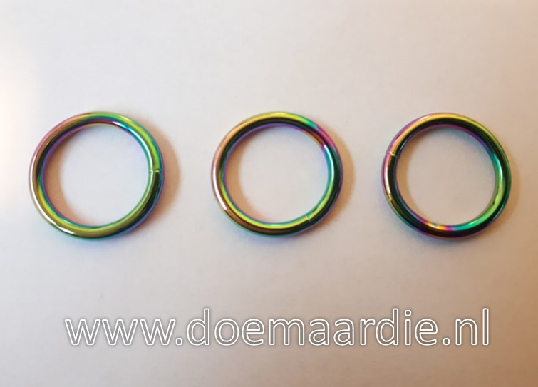 O ring, gelast staal, Fuel, binnenmaat 25 mm dikte 4 mm