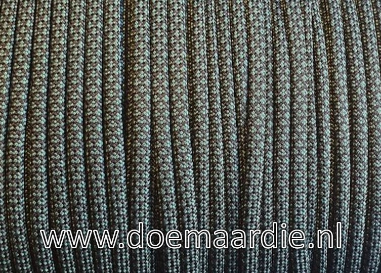 Paracord 550 Black Dark Green Diamond, vanaf 29 cent per meter.