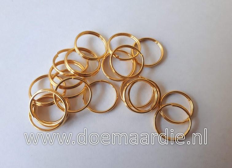 Splitringetje, gold. binnenmaat 11 mm (40 stuks).