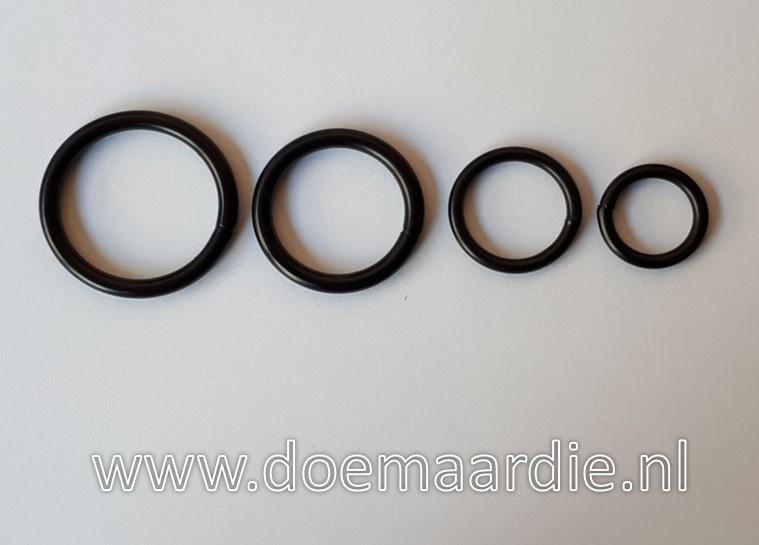 O ring Zwart, 15 mm dikte 3 mm