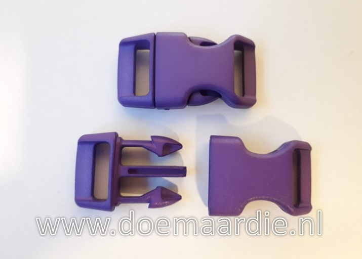 Buckle , klikgesp, Large, paars, doorvoer 20 mm.