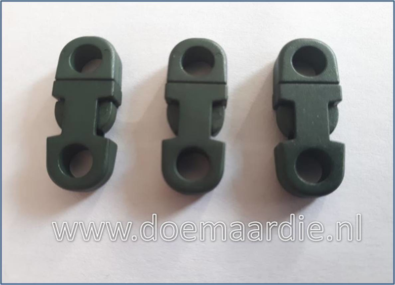 Plastic Breakaway Buckle, army green.