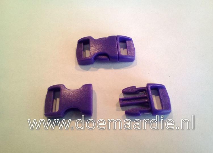 Buckle mini, klikgesp, paars, doorvoer 11 mm.