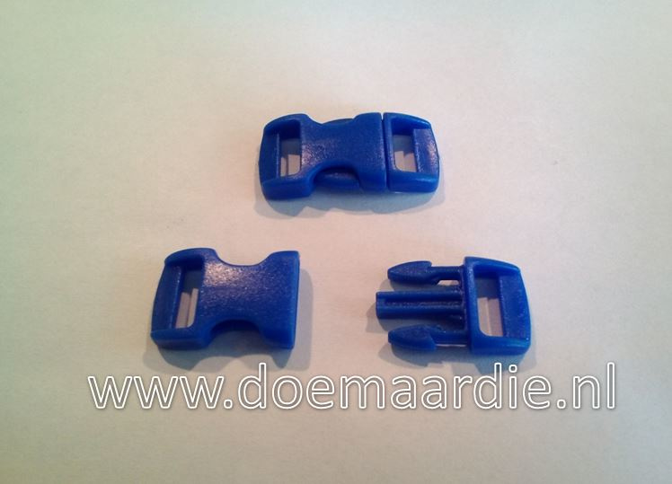 Buckle mini, klikgesp, blauw, doorvoer 11 mm.