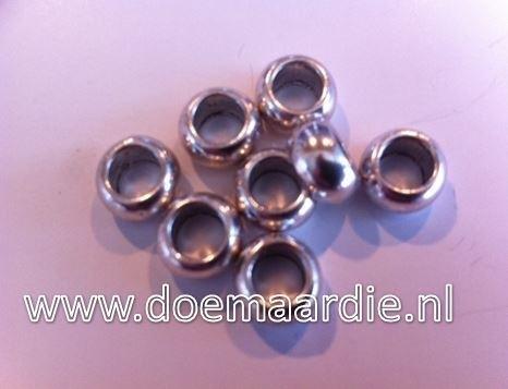 Metalen groot gat kraal, gat 5 mm