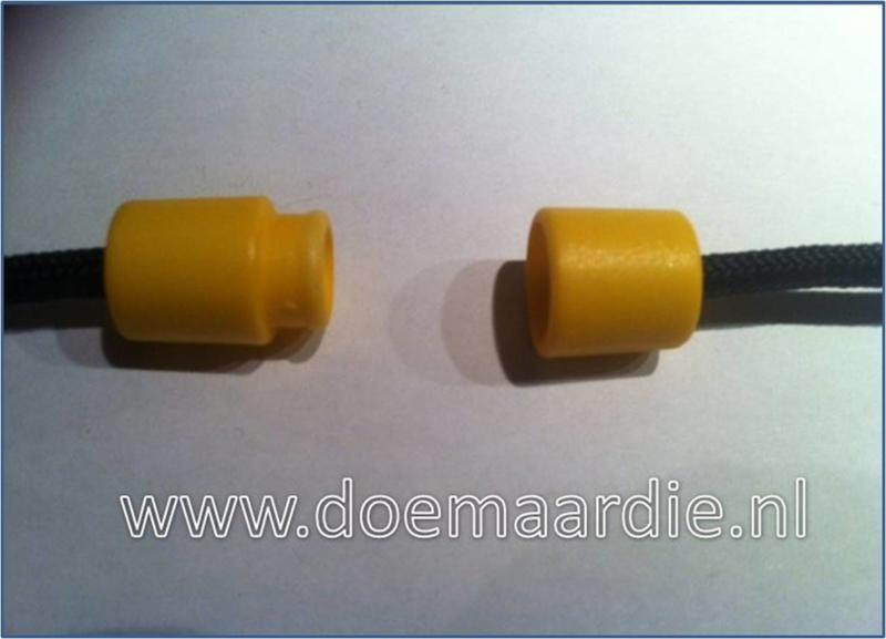 Plastic Breakaway Barrel Clasps, geel.