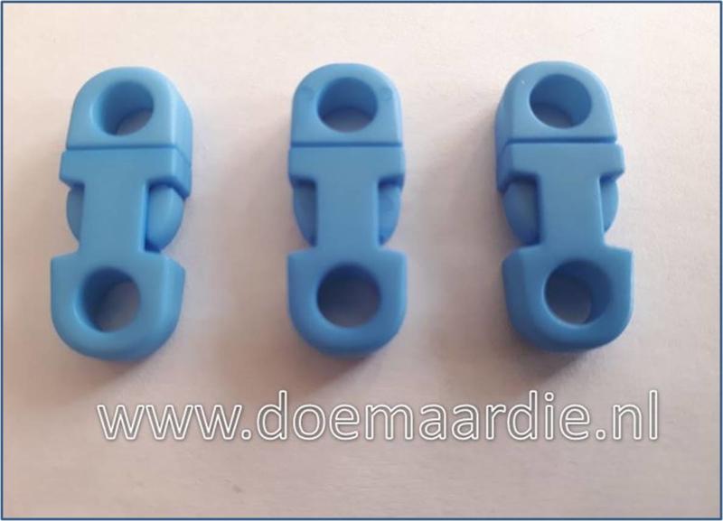 Plastic Breakaway Buckle, baby blauw.