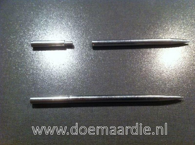 Paracord naald, deelbaar, binnen 2,7 mm, buiten 5 mm. type 2