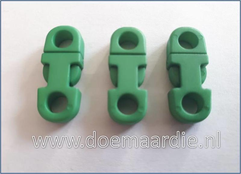 Plastic Breakaway Buckle, groen.