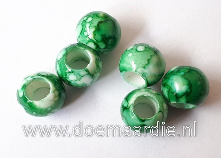Kraal, verschillende tinten groen. Per 20.