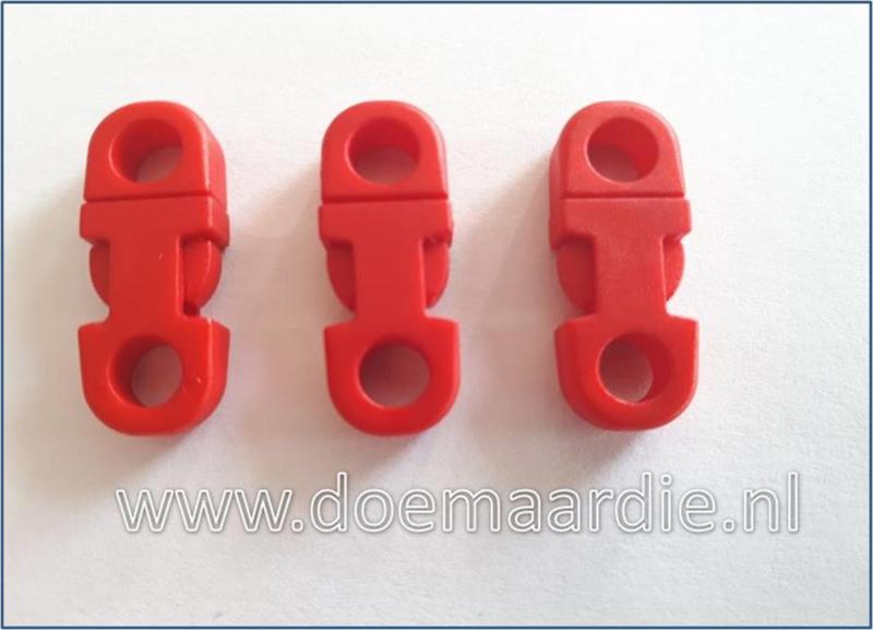 Plastic Breakaway side release, red.