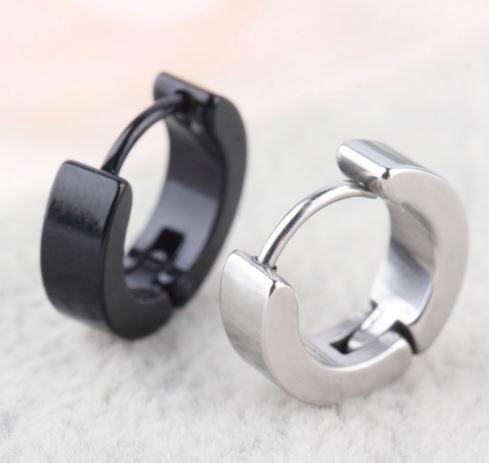 Effen klapoorbellen, zwart of zilverkleur