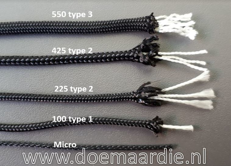 Types paracord