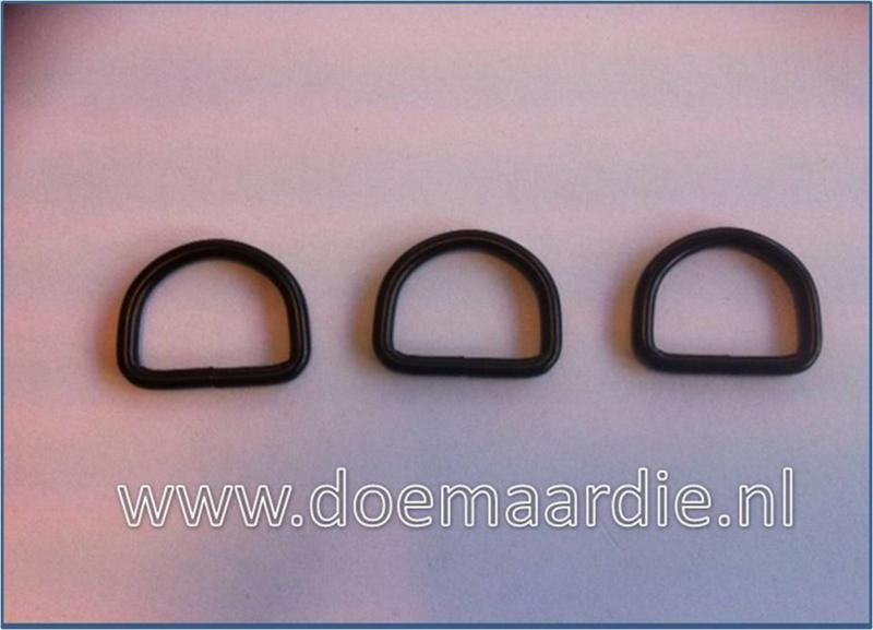 D ring mat zwart, 20 mm x 3,00. ook per 50
