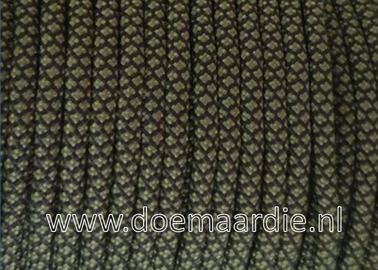 Paracord 550 Light Army Green diamond, vanaf 27 cent per meter.