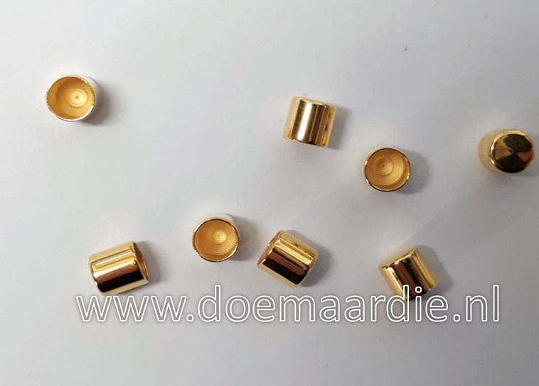 DQ Metalen koord eind. Gold, 5 mm