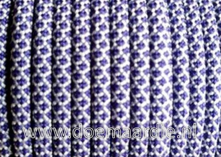 Paracord, 550 type 3,  diamond white purple, vanaf 27 cent