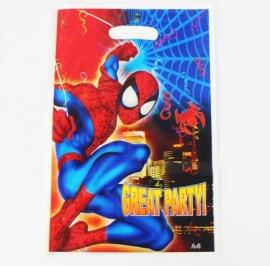 Superheld Spiderman uitdeelzakjes - 6 stuks