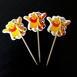 Winnie de Pooh cocktailprikker - optie 2