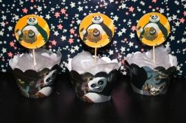 Kung Fu Panda - set van 12 cocktailprikkers en wikkels