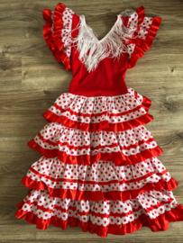 Spaanse jurk rood - 8 jaar