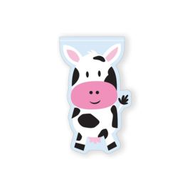 Boerderij dieren uitdeelzakjes koe (12 stuks)