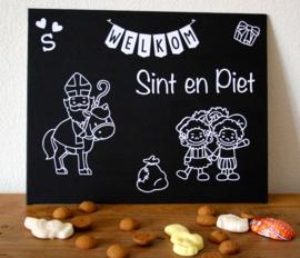 Welkomstbordje Welkom Sint en Piet