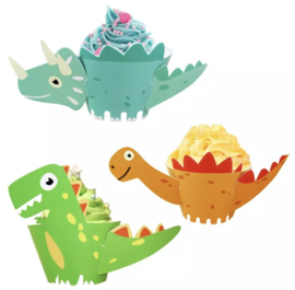Dino's - 12 cupcake wikkels