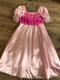 Prinsessenjurk roze maat 128