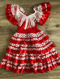 Spaanse jurk rood - 4 jaar
