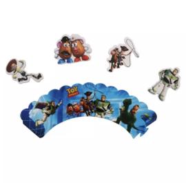 Toy Story - set van 12 cupcake wikkels en prikkers